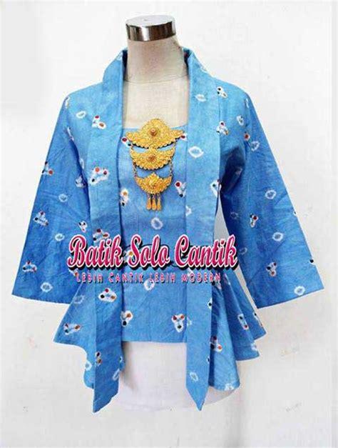 kebaya batik jumputan model peplum baju kerja batik