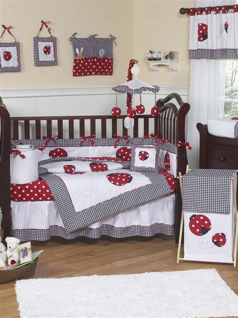 Ladybug Crib Bedding Set And White Ladybug Polka Dot Baby Bedding 9 Crib Set Nursery Bedding Sets Nursery