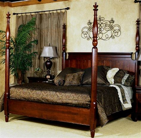 king 4 poster bed king size cherry 4 poster bed bedroom pinterest