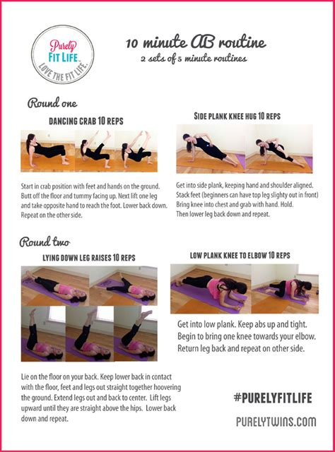 10 minute ab workout to get a flat stomach positivemed