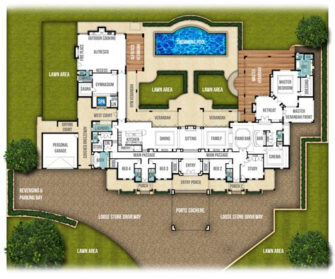 Australian Mansion Floor Plans by Single Storey Split Level Home Design Quot The Chateau