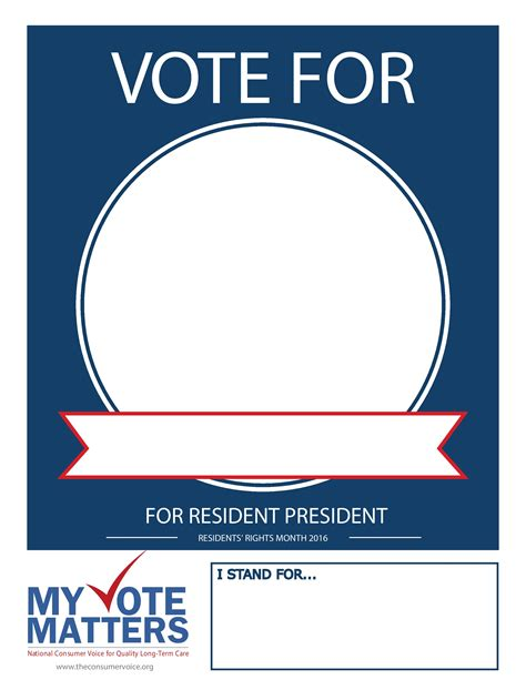 vote poster template national consumer voice