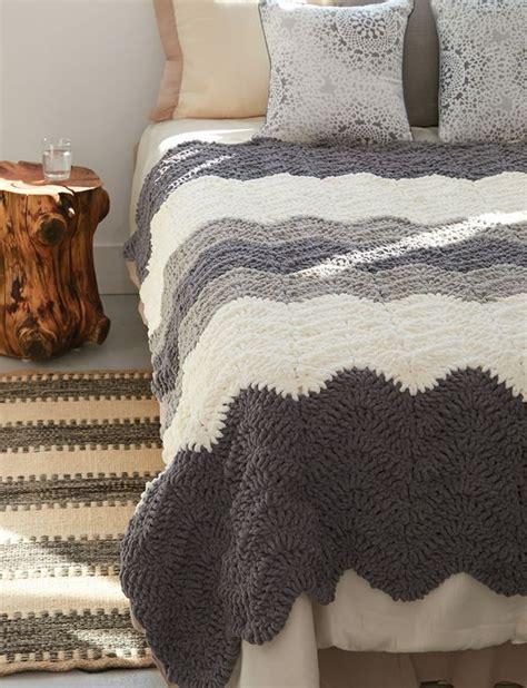 crochet pattern using bernat blanket yarn yarnspirations com bernat grey scale blanket free