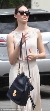 emmy rossum looks like emmy rossum looks like a grecian goddess in stylish white