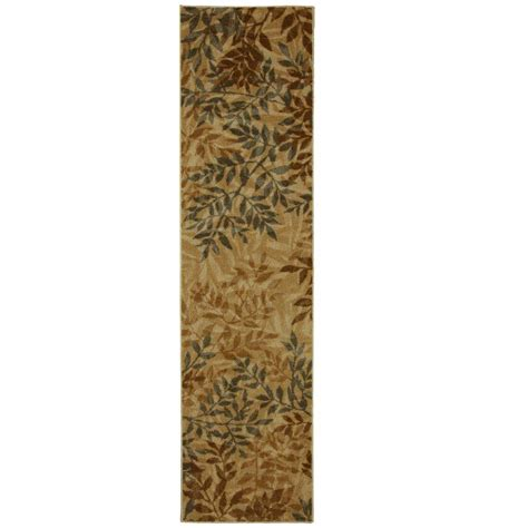 Mohawk Runner Rug Mohawk Home Waterloo Leaves Beige 2 Ft X 8 Ft Runner 330927 The Home Depot