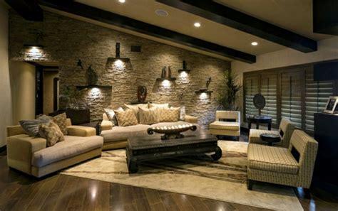 beleuchtung natursteinwand wohnzimmer natursteinwand im wohnzimmer eine attraktive