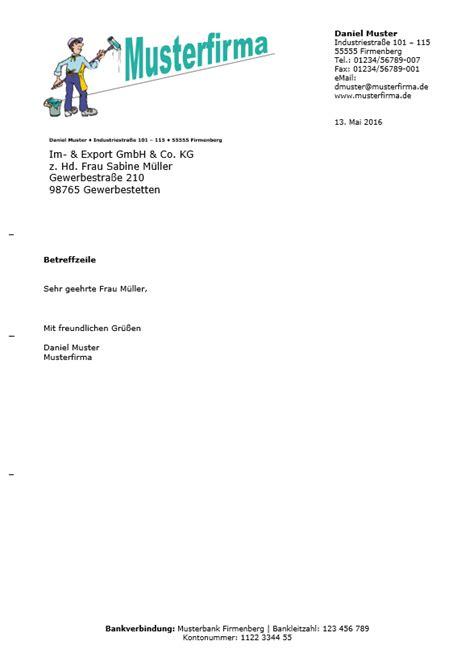 Moderner Briefkopf Vorlage Kostenlose Word Briefkopf Vorlagen Herunterladen