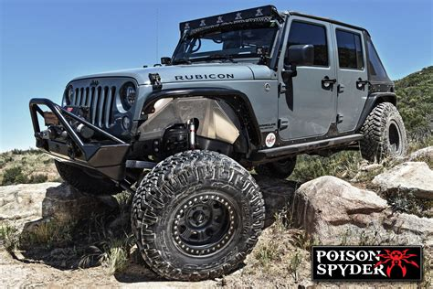 spyder jeep poison spyder vented inner fender kit for 07 18 jeep