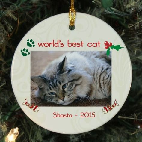 personalized ceramic cat photo ornament giftsforyounow