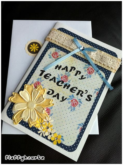 Handmade Teachers Day Card - fluffyheartz s day cards