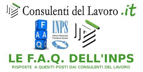 banca dati cdl consulenti lavoro le f a q inps cdl di febbraio 2015