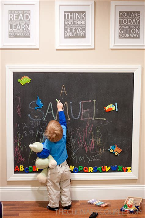 magnetic boards for rooms diy magnetic chalkboard wall the culinary
