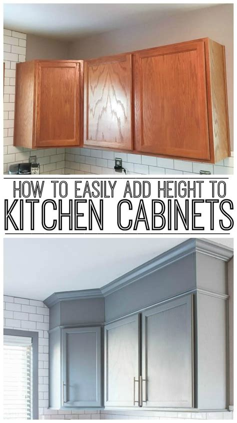 How To Add Glass To Kitchen Cabinet Doors How To Easily Add Height To Your Kitchen Cabinets Learning Kitchens And Empty Spaces