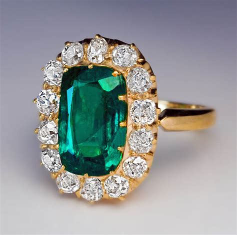 Ruby 2 62 Ct antique 2 62 ct emerald cluster ring antique