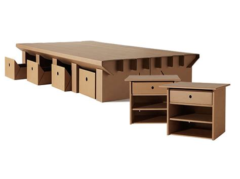 Cardboard Bed Frame Karton Makes Cool And Furniture Out Of Recycled Cardboard Inhabitat Green