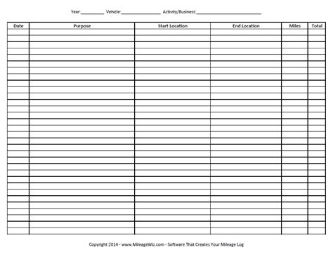 Free Mileage Log Spreadsheet by Mileage Log To Print Pictures To Pin On Pinsdaddy