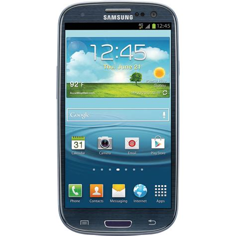 samsung galaxy s iii 16gb at t branded smartphone i747 blue
