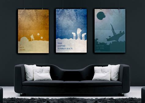 posters home decor star wars art star wars poster set star wars print