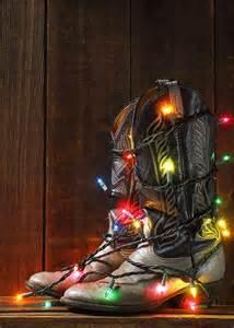 cowboy boots christmas lights cowboy christmas country