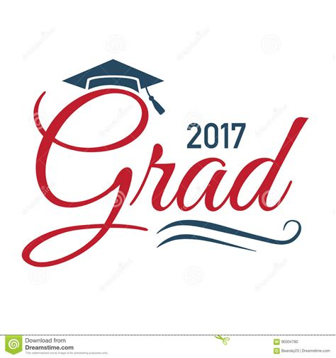 typography classes class of 2017 congratulations graduate typography stock vector image 90304780