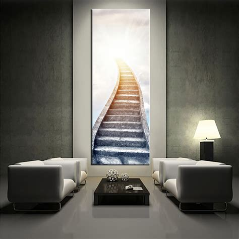Large Wall Pieces 1 white large pictures stair modern artwork