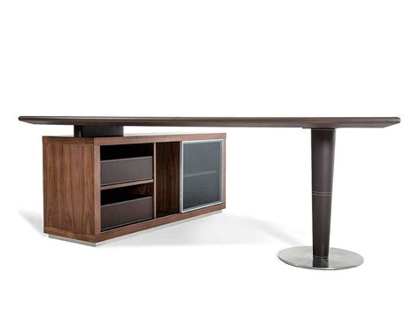Modern Desk With Storage Modern Office Desk And Side Storage Cabinet Desks