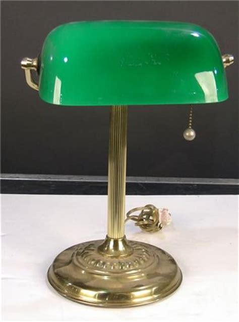 green shade desk l brass desk l with green shade