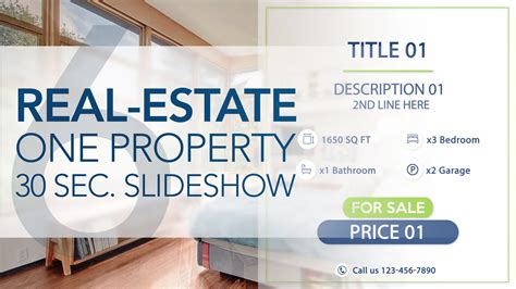 one house real estate real estate one property 30s slideshow 6 after effects template