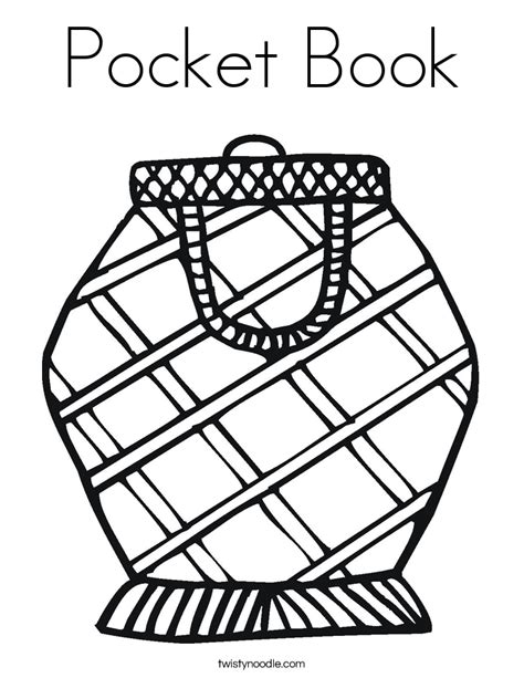 pocket book coloring page twisty noodle