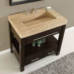 bathroom vanity with top and sink silkroad exclusive travertine top single sink