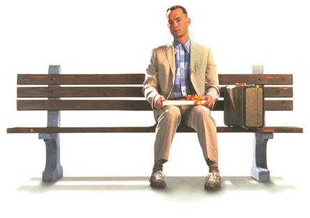 on the bench forrest gump sitting on the bench and memorandum efnotebloc