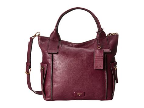 Fossil Emerson Maroon Medium fossil emerson satchel maroon 6pm
