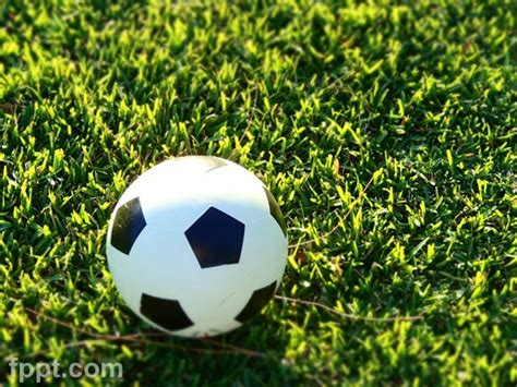 Free Soccer Ball Photo For Powerpoint Free Soccer Powerpoint Templates