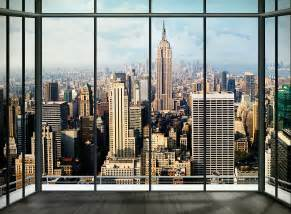 alfa img showing gt skyline window wallpaper walls need love new york skyline wall mural amp reviews