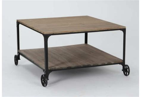 Table Basse Bois Metal Industriel