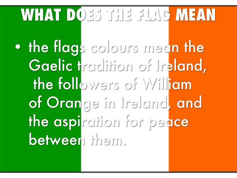 ireland colors what do the colors on the flag ireland by