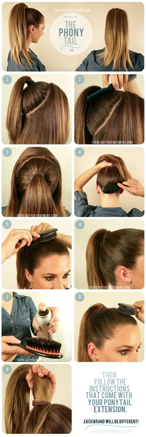 stepbystepnaturalstyling com hair styling step by step pictorial the phony tail the
