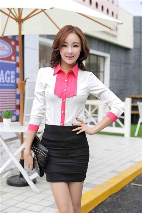 Model Terbaru Murah Kode 5027 Pink Best Seller kemeja wanita modern model terbaru 2015 model terbaru jual murah import kerja