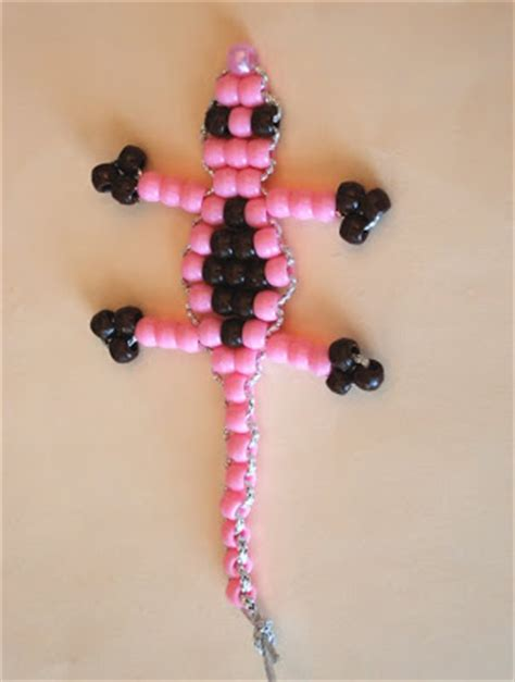 pony bead gecko serving with smiles bead gecko