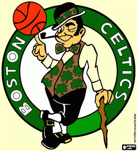 boston celtics logo colouring pages