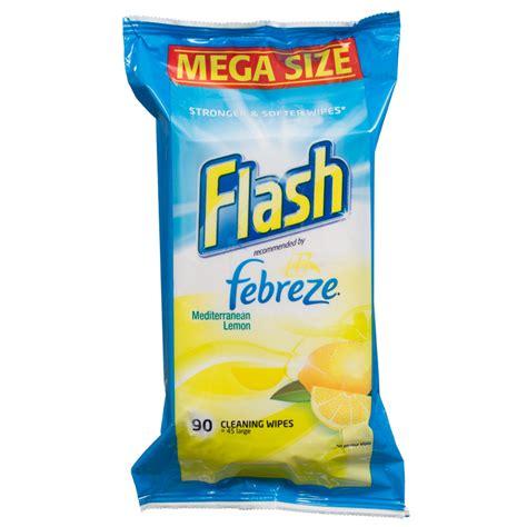 flash febreze cleaning wipes mediterranean lemon cleaning