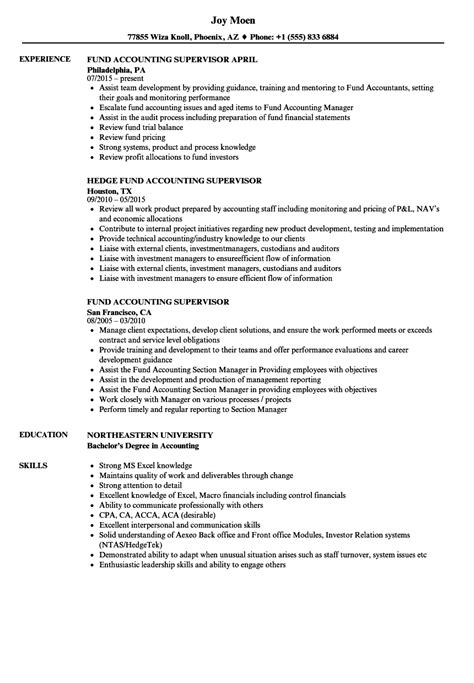 hedge fund resume sle fund accountant sle resume standard resume