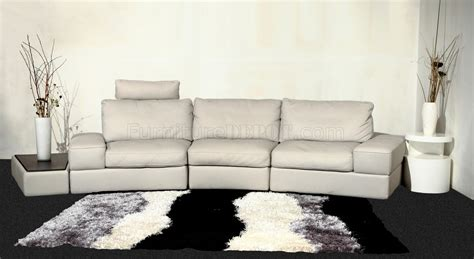 light gray leather sofa modi sectional sofa by beverly hills in light gray leather