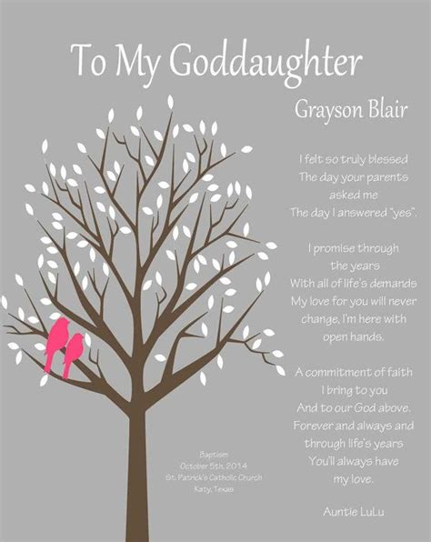 Wedding Wishes Goddaughter by Goddaughter Gift Gift For Goddaughter By Whisperhills On