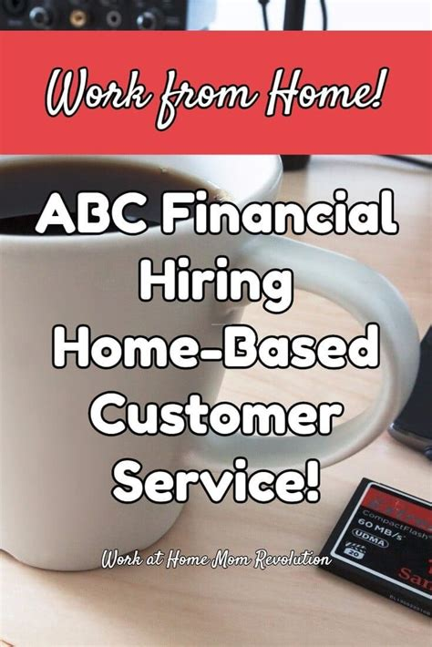 work at home abc financial hiring home based customer