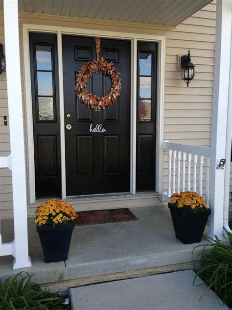 Front Door Makeover Ideas Front Door Makeover Ideas Turquoise Front Door With Brown And White Trim With Front Door