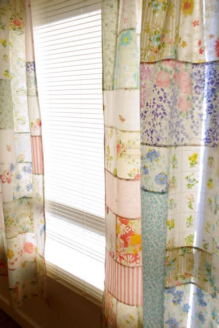 Patchwork Quilt Curtains - sewing curtains using quilt blocks 52 quilt block up