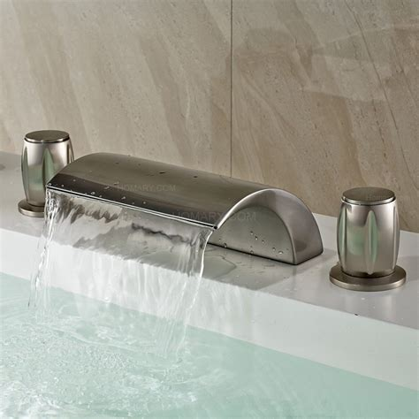 bathtub filler victoria waterfall led roman tub filler faucet