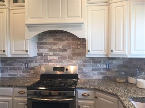 Brick Backsplashes For Kitchens Kitchen With Brick Backsplash Home Design And Decor