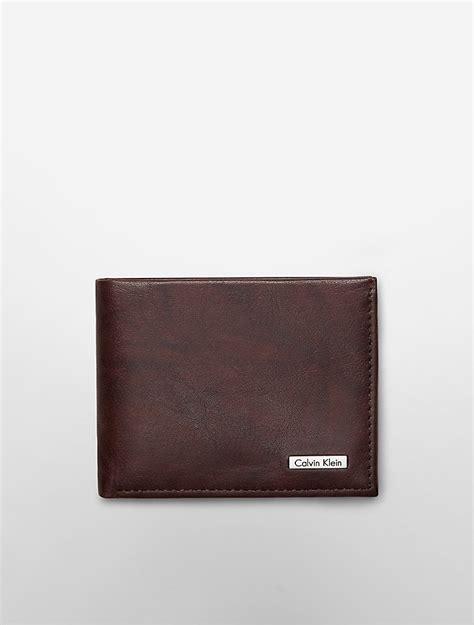 calvin klein ck wallet calvin klein mens leather marbled slimfold wallet ebay